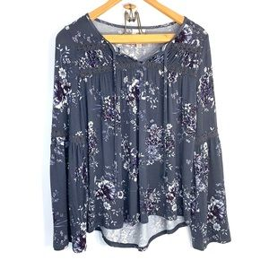 Knox Rose floral and lace top